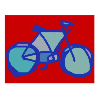 blue bicycle postcard