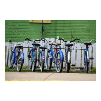 Blue Bicycle Row Photograph