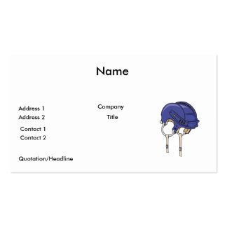blue bike helmet pack of standard business cards