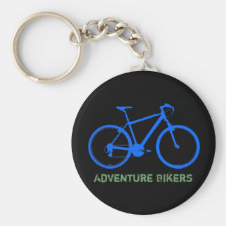 blue bike personalizable key ring