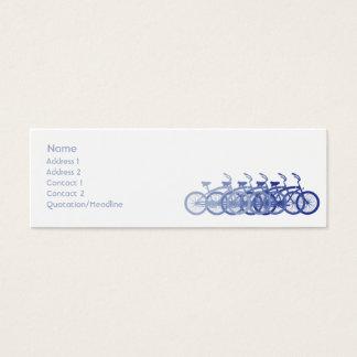 Blue Bike - Skinny Mini Business Card