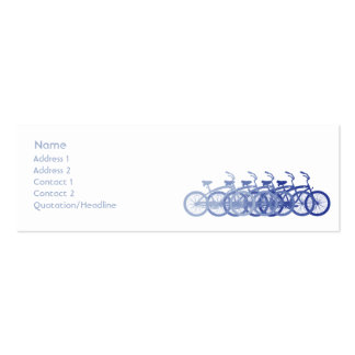 Blue Bike - Skinny Pack Of Skinny Business Cards