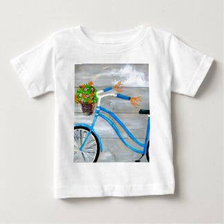 Blue Bike Zazzle Baby T-Shirt