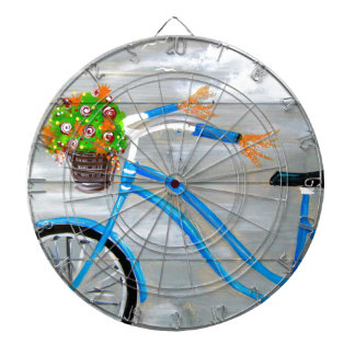 Blue Bike Zazzle Dartboard