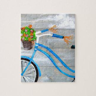 Blue Bike Zazzle Jigsaw Puzzle
