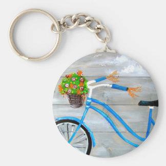 Blue Bike Zazzle Key Ring