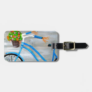 Blue Bike Zazzle Luggage Tag