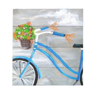 Blue Bike Zazzle Notepad