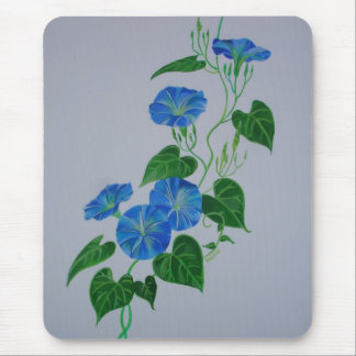 Blue Bindweed Mouse Pad