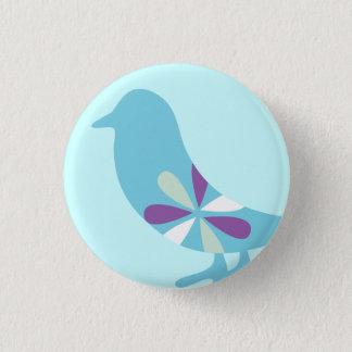 BLUE BIRD 3 CM ROUND BADGE