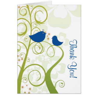 Blue Bird All Ocassion Thank You Note Greeting Card