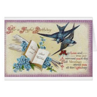 Blue Bird Birthday Card
