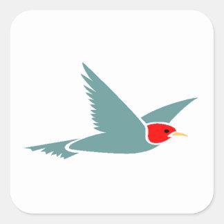 Blue Bird Flying Stickers