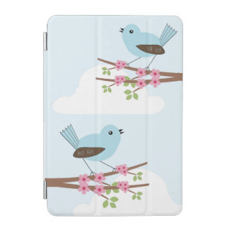 Blue Bird in Blossom Tree iPad Mini Cover