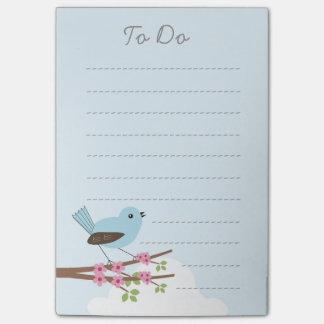 Blue Bird in Blossom Tree Post-it Notes