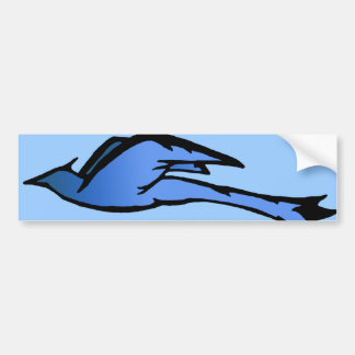 Blue Bird in Flight Bumper Sticker