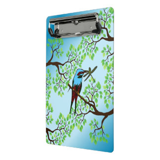 Blue Bird in Trees Mini Clipboard