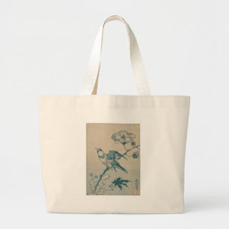 Blue Bird Large Tote Bag