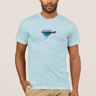 Blue Bird Mixed Media Collage T-Shirt