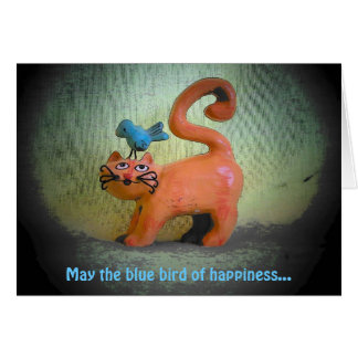 blue bird of happiness all nine lives card