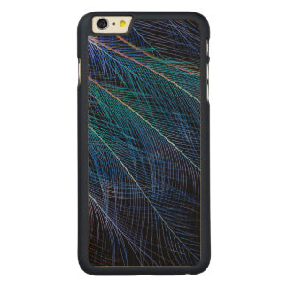 Blue Bird Of Paradise Feather Abstract Carved Maple iPhone 6 Plus Case
