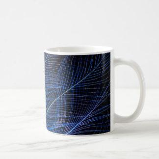 Blue Bird Of Paradise Feather Abstract Coffee Mug