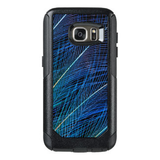Blue Bird Of Paradise Feather Abstract OtterBox Samsung Galaxy S7 Case