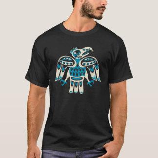 blue bird on black background T-Shirt