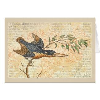 Blue Bird on Branch Card