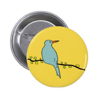 Blue Bird original illustration 6 Cm Round Badge
