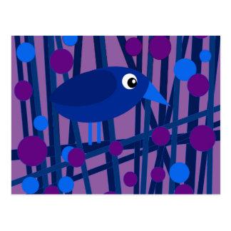 Blue bird postcard