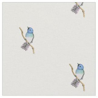 Blue Bird Print Fabric