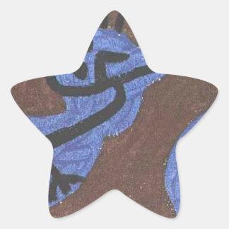 Blue bird pumpkin by Paul Klee Star Sticker
