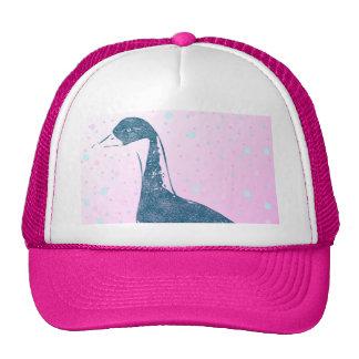 Blue Bird Scketch Design Cap