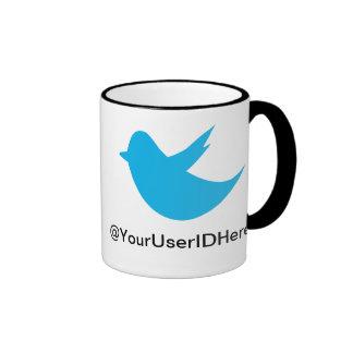 Blue Bird Social Media Ringer Mug