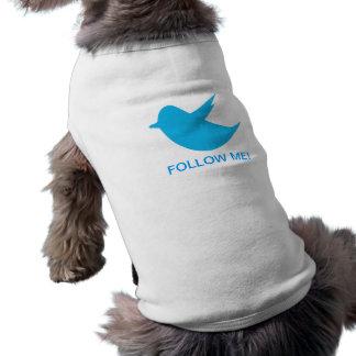 Blue Bird Social Media Sleeveless Dog Shirt