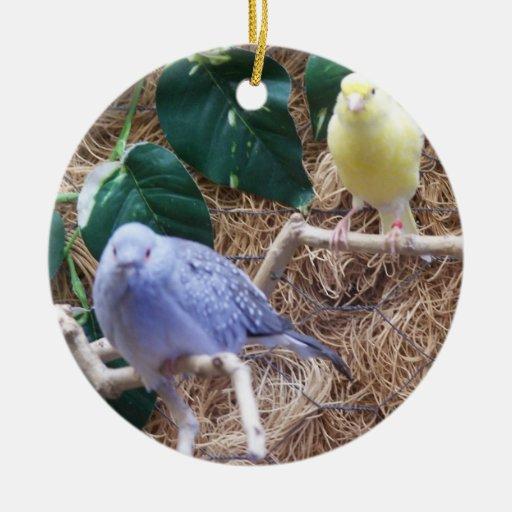 Blue Bird, Yellow Bird, Merry Christmas Christmas Ornament