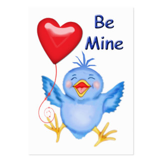 Blue Birdie Valentine Cards to Hand Out for Kids Pack Of Chubby Business Cards