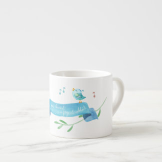 Blue Birdies Share Their Joy Espresso Cup