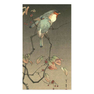 Blue Birds at Night by Seitei Watanabe 1851- 1918 Business Card Template
