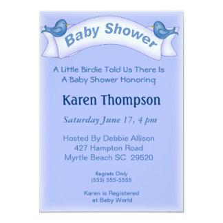 Blue Birds  Baby Shower  Invitation