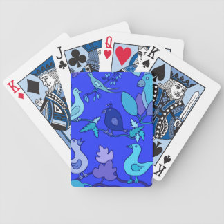 Blue Birds Bicycle Playing Cards