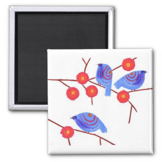 Blue birds refrigerator magnet