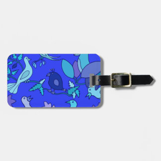 Blue Birds Personalized Luggage Tag