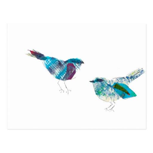 Blue Birds Post Card