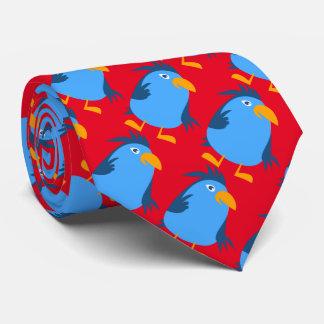 Blue birds tie
