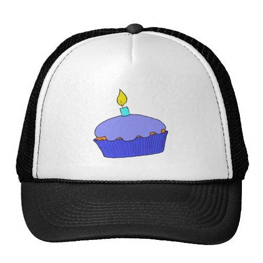 Blue Birthday Boy Cupcake Design Trucker Hat