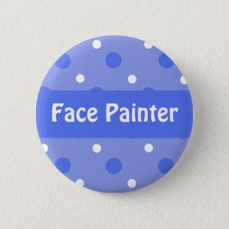 Blue Birthday 'Face Painter' Identification 6 Cm Round Badge