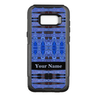Blue Black Abstract Patterb OtterBox Commuter Samsung Galaxy S8+ Case