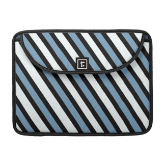 Blue Black and White Stripes MacBook Pro Sleeve